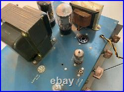 Vintage Pacemaker PM33 Tube Amplifier Bell Sound Systems Amp PM 33 AS-IS