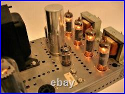 Vintage Packard Bell DPA 30-3 Push / Pull Tube Amplifier EL84 Works Well