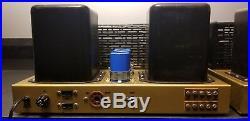 Vintage Pair Lafayette La-70 Mono Tube Amps / Amplifier Serviced /restored