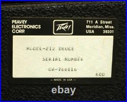 Vintage Peavey Deuce VT Series 240T Tube Guitar Amplifier 212 Combo Amp 80's
