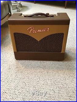 Vintage Premier Twin 8 Guitar, Harmonica Amp, Multivox Tube Amplifier