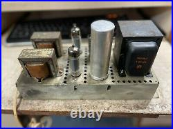 Vintage Rca Vacuum Tube Stereo Power Amplifier 6bq5 Se Rs199a