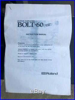 Vintage Roland Bolt 60 Hybrid Tube Valve Guitar Amp Amplifier