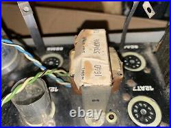 Vintage Single Ended 12AX7 6BM8 Stereo Tube Amplifier For Parts Or Repair