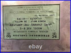 Vintage Stromberg Carlson Stereo 8-80 Vacuum Tube Stereo Power Amp/preamp Combin