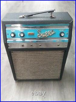 Vintage Supro 1960s TROJAN Tube Guitar Combo Amp FREE SHIPPING