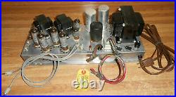 Vintage The Fisher 460-A C-33 Stereo Tube Amplifier POWER AMP QUAD 6BQ5 AS IS