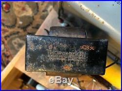 Vintage Tube Amp Power Supply Wood Case UTC H-83 Transformer 6.3v 5v 670v 130ma