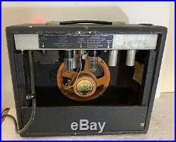 Vintage Tube Fender Bronco Tweed Amp 6 Watt Guitar Amplifier Amp Rare