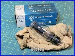 Vintage Western Electric 300B Ink Base D Getter Amplifier Tube in Box, Test Good