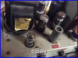 Vintage audio Heathkit/scratch built tube amplifier pre-amplier (untested)