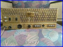 Vintage stereo tube amplifier
