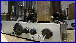 Vintage tube amplifiers TESLA pair from 1950's