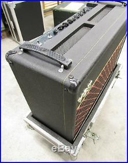 Vox V125, vintage unique guitar tube amplifier combo in flightcase on wheels