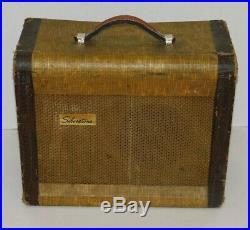 Vtg 1950's Silvertone Danelectro 1331 Tube Guitar Combo Amp 1x8 Speaker Tweed
