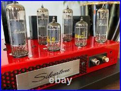 Vtg 1960's Silvertone EL84 6BQ5 Stereo Tube Amplifier Amp Audio Stand Alone