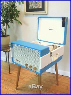 Vtg 50s 60s Magnavox Record Player Console Mid Century Modern Hi-Fi Tube Amp MCM