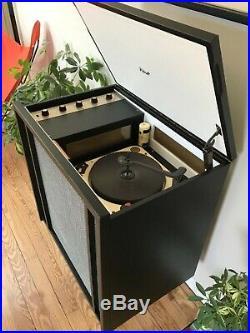 Vtg 50s 60s Pilot HiFi Tube Record Player Mid Century Modern Console Amp Jimmy O