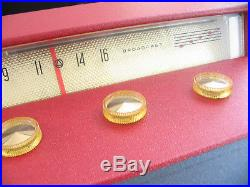Vtg 50s Silvertone Record Player/Radio HiFi Tube Amp Mid Century Modern Console