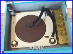 Vtg RCA Aqua Tube Amp Record Player 50s 60s Hi-Fi MCM Stereo Console Jimmy O